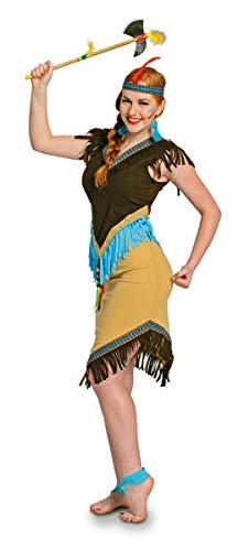 Folat 63316 Indianerin Damen Indianer sexy Squaw Faschings-Kostüm, Größe S/M, S