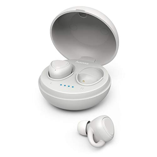 Hama LiberoBuds - Auriculares in-Ear con Bluetooth. Auriculares Bluetooth con Caja de Carga Color Rojo