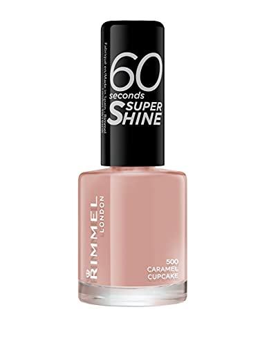 Rimmel 60 Seconds Super Shine - Vernis à Ongles Caramel Cupcake 8 ml Beige/Nude