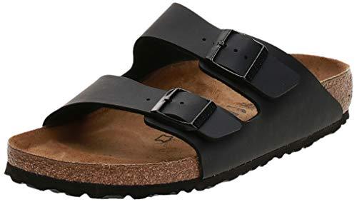 Birkenstock 51793 - Sandalias con hebilla unisex, Negro, 38 (estrecho)