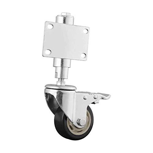 SMLZV Lenkrollen für Möbel, Gummilenkrollen Rad 75mm, mit Bremsersatzrollen for Trolley, 100kg Belastbarkeit, for Stühle, Tische, Abstellflächen, 1 Stk (Size : Brake)
