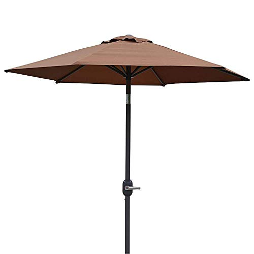 NMDD Beach Umbrella Sun Shade Garden Windproof UV Protection, Patio Pool Umbrellas Polyester Canopy With Tilt Function