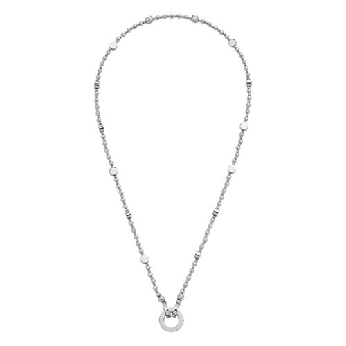 Jewels by Leonardo DARLIN'S Damen-Halskette Perugia, Edelstahl mit runden und flachen Edelstahlperlen, Clip & Mix System, Länge 450 mm, 016647
