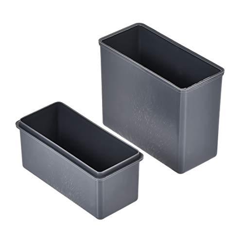 uxcell Slide Staining Jar Polypropylene Stain Jars Gray for Microscope Slides