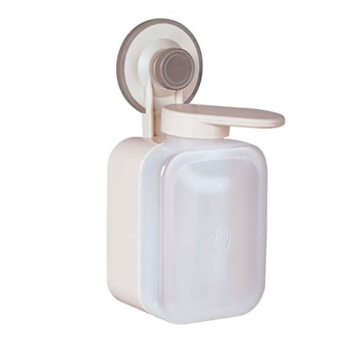 Nostalgie Soap Dispenser Wall Mount Suction Cup Manual Soap Dispenser ABS Waterproof Punch-Free for Essential Oil, Lotion Soap