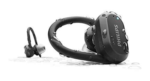 TAA7306/00 Philips kabellose Sport Kopfhörer, kabellose In-Ear-Kopfhörer, Sportkopfhörer Bluetooth, bis zu 24 Stunden Spielzeit, Kopfhörer mit Mikrofon, drahtlose Kopfhörer zum Joggen