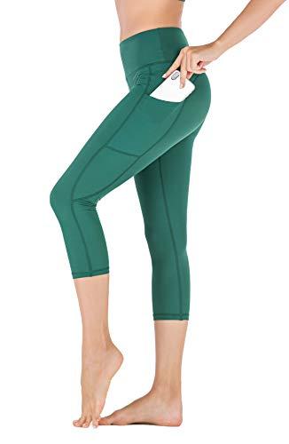 ACTIVE NOW Leggings Sportivi Donna, Danza, Allenamento, Corsa, Palestra, Yoga. Vita Alta, Controllo Pancia. Tessuto Non Trasparente, Alta Traspirazione, Elasticità in 4 direzioni, 2 Tasche Laterali