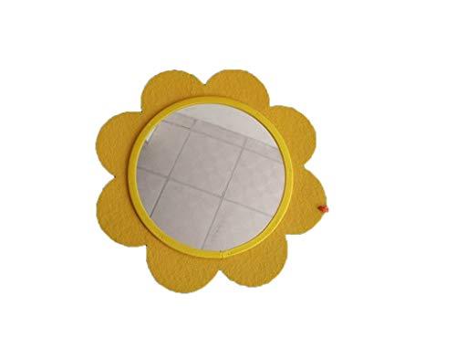 JJZI-L Precioso Espejo pequeña Flor, jardín de Infancia Decorativo Espejo habitación Vistiendo Espejo Espejo Educación Temprana Cognición bebé de Juguete no Roto (Color : B, Size : 20 * 20CM)