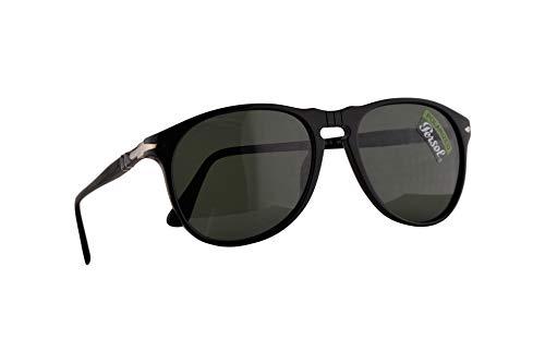 Persol 6649-S Sonnenbrille Schwarz Mit Polarisierten Grünen Gläsern 55mm 9558 6649S PO6649S PO6649-S