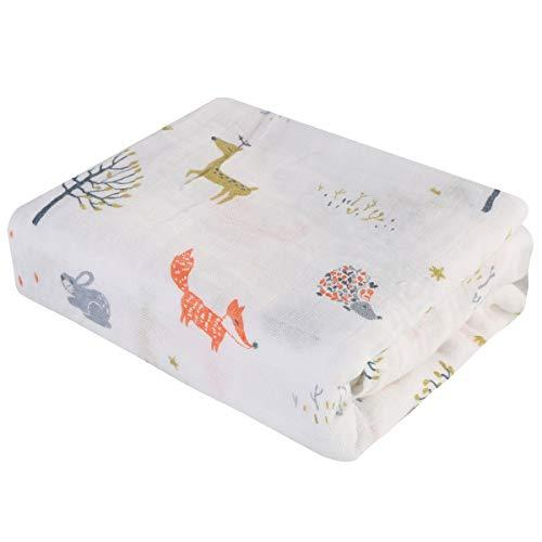 Rehomy 1 manta para bebé con dibujos animados y estampado de animales recién nacidos suave para recibir manta para niños y niñas de 47 x 47 pulgadas (rojo)