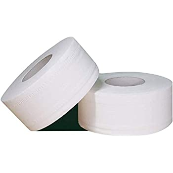 """Jumbo Bathroom Roll Tissue 2-PLY (2 Rolls only) 1000 Feet Each Roll with Rollxy Brand 1 Roll of 2-1/4 x 50"""" Thermal Paper for Most Credit Card Machine"""