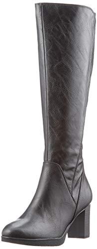 MARCO TOZZI Damen 2-2-25514-25 Langschaftstiefel Kniehohe Stiefel, Black Antic, 40 EU