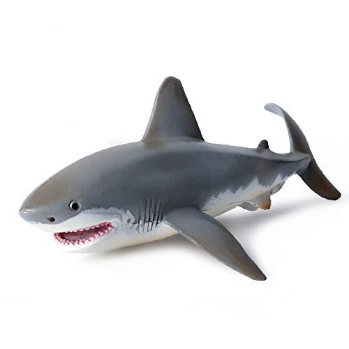 L&C Lebensechtes Hai-Modell Spielzeug Realistische Bewegungssimulation Tiermodell Meerestiermodell Geschenk Für Kinder Kinder 17cm