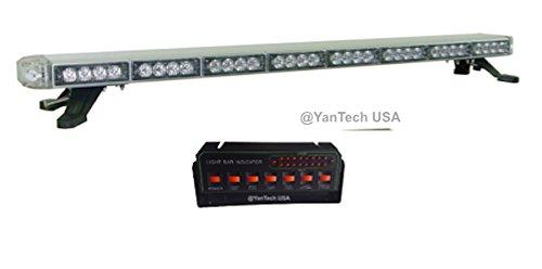 50' Amber LED Light Bar Flashing Warning Tow/Plow Truck Wrecker Emergency Light Take Down & Alley & Brake/Turn Signal Lights w/LED Driver