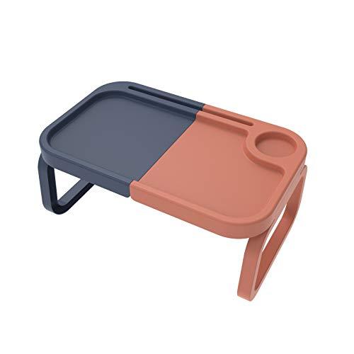 VBARV Plegable Cama del Escritorio del Ordenador portátil, portátil Laptop Stand Ajustable, con la Taza/sostenedor de la Pluma, Ranura para Tarjeta íntimo de diseño, Potable para Adultos