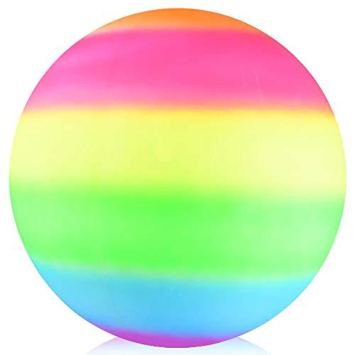 ArtCreativity Rainbow Playground Ball for Kids, Bouncy 18 Inch Rubber Kick Ball for Backyard, Park...