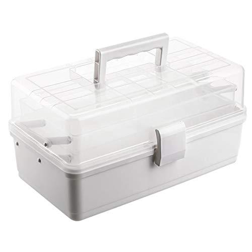 Polai Hausapotheke Box Medikamentenbox Plastik Medizinbox Medizinkasten Kunststoff Medizinkoffer Erste-Hilfe-Koffer, 34 x 18 x 17,5 cm