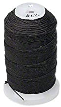 Simply Silk Beading Thread Size D Black 0.012 Inch 0.34mm Spool 260 Yards for Stringing Weaving Knotting
