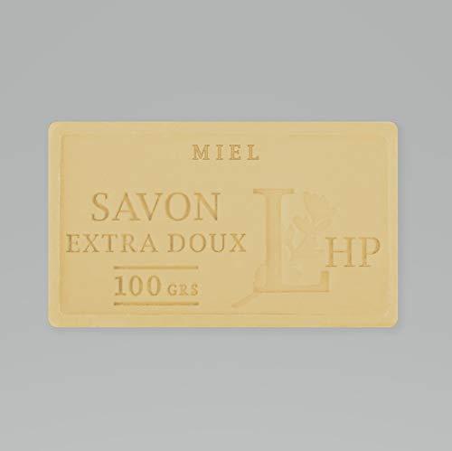 PRODUIT DE PROVENCE - MIEL - SAVON DE MARSEILLE EXTRA DOUX 100 G - DÉLICAT PARFUM NATUREL DE MIEL- GARANTI SANS PARABEN