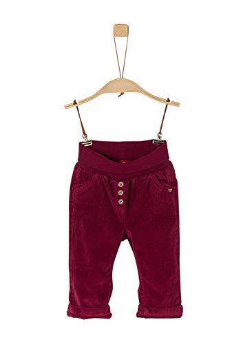 s.Oliver Baby-Mädchen 65.909.73.2177 Hose, Rot (Dark Red 4622), (Herstellergröße: 74)