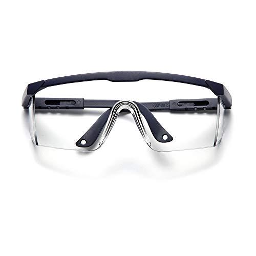Blue Safety Glasses For Men Women,Safety Oggles & Glasses Over Eyeglasses,Mens Womens Safety Glasses Eye Goggles Safety Protection,Over The Glasses Safety Glasses
