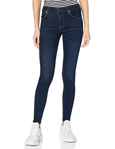 Superdry Womens MID Rise Skinny Jeans, Van Dyke Indigo Used, 31W / 30L