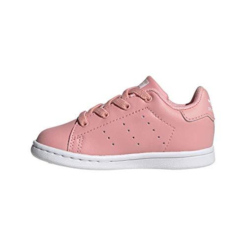 adidas Originals Stan Smith Elastic, Scarpe da Ginnastica Bimbo 0-24, Glory Pink Glory Rosa Bianco, 20 EU