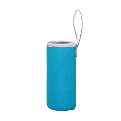BESTonZON Neopren Flaschen Schutzhülle 550 ML Flaschen Thermo-Hülle Taschen 6,8x19 cm (Eisblau)