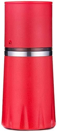 LXYZ Espressomaschine, tragbare manuelle Kaffeemühle, einstellbare Kaffeemaschine mit Einer Tasse Kaffeemaschine Keramikkaffeemühle mit integriertem Mahl- und Brühsystem für das Reisecampingbüro