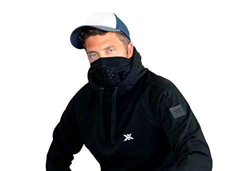 XV RACING Herren Hoodie Multifunktion Kapuzenpullover integrierte Wetterschutz Maske High Tech Funktionskleidung (L)