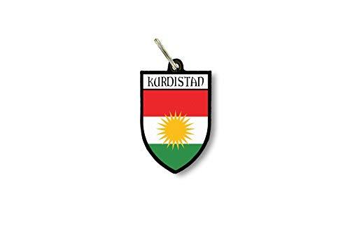 Sleutelhanger Sleutelhanger Ring Vlag Nationale Souvenir Schild Koerdistan