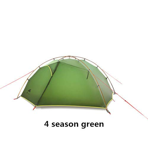 Mdsfe 3F UL GEAR Green and white 4 Season Camping Tent 15D NylonDouble Layer Waterproof Tent for 2 Persons-4 season green
