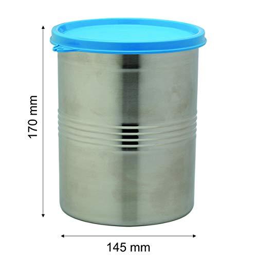 Signoraware Modular Steel Container Round 2000ml, Set of 1, Red