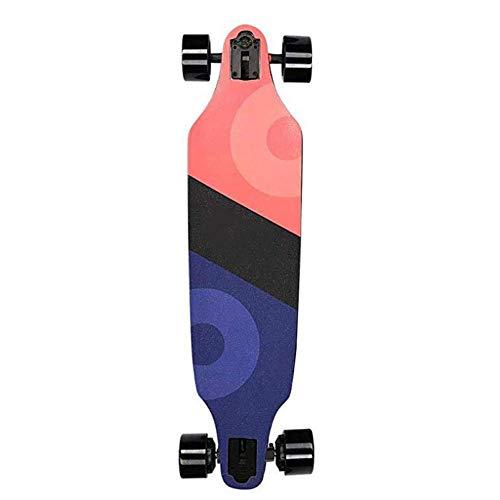 SLM-max Kinder Skateboard Fahren,Elektrisches Skateboard Motorisiertes Skateboard 40 km/h Höchstgeschwindigkeit, 480 W Motor, 10-lagiges Ahorn-Longboard mit drahtloser Fernbedienung