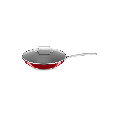 KitchenAid Stainless Steel 12 Nonstick Skillet with Glass Lid