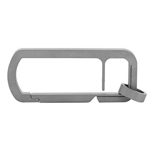 DAUERHAFT Schnalle Glänzende einzelne Outdoor-Schlüsselringe Robuste Metall-Einzelschnalle Schlüsselring geteilt für Männer
