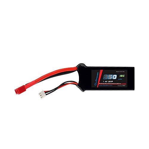 DLG 15C Burst 25C 2S 950mAh 7.4V LiPO Li-Po High-Discharge Rate Powerful Battery with Dean