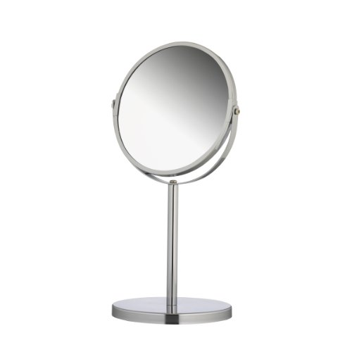 Axxentia Bad 282801 Magnifying Table-Mirror 34.5 cm Height and 17 cm Diameter Round Chromed Triple Magnification
