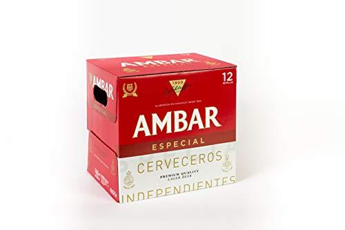 Ambar Especial Cerveza - Paquete de 12 x 250 ml - Total: 3000 ml