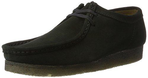 Clarks Originals Wallabee, Chaussures de ville homme, Noir (Black Sde), 42