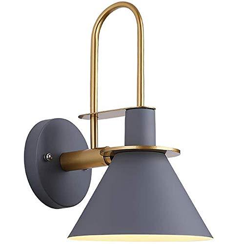 DZX Beleuchtung Moderne Schlafzimmer Lampe Trompete Licht Schatten Wandleuchte Innen Nachttisch Wandleuchten Für Schlafzimmer Dekorationen Wohnzimmer Zubehör Badezimmer Licht Treppe Lichter (Gra