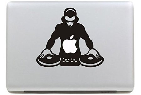 VATI Hojas desprendibles DJ del Vinilo de la Etiqueta engomada de la Piel de Arte Negro para Apple Macbook Pro Aire Mac de 15'Pulgadas/Unibody 15' Pulgadas portátil