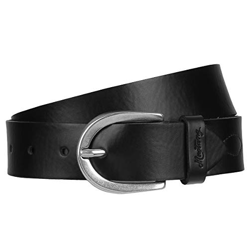 Mustang - Cinturón de piel para mujer (35 mm), color negro Negro...