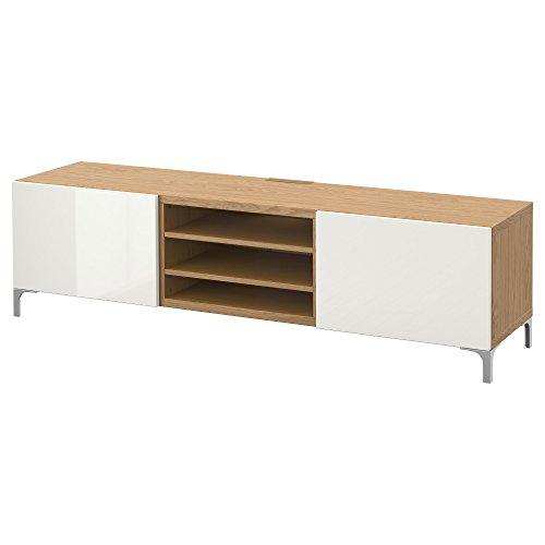 IKEA BESTA - Mueble TV con cajones efecto Roble / selsviken alto...