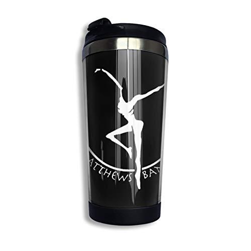 Dave Matthews Band Taza de café de acero inoxidable taza taza de viaje botella de agua para mantener caliente o frío 400 ml/13 oz