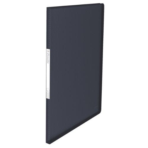 Esselte Carpeta de fundas, A4, 40 fundas, Capacidad para 80 hojas, Fundas transparentes, Tapas flexibles, Negro VIVIDA, Gama VIVIDA, 623999