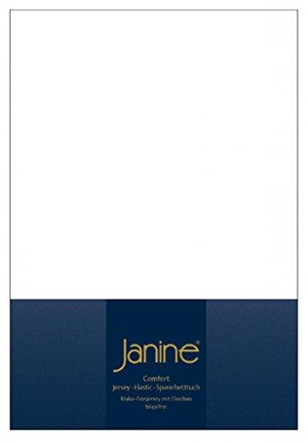 Janine 5002 Elastic-Jersey-Spannbetttuch 10 weiß 140x200-160x220