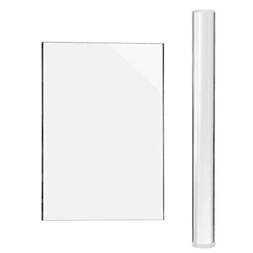 teng hong hui 2 PC/Sistema de Rodillos de Arcilla del rectángulo de Arcilla Herramienta Tablero de Sistema de la Hoja del Kit de Herramientas de Modelado de Arcilla de amasar Transparente