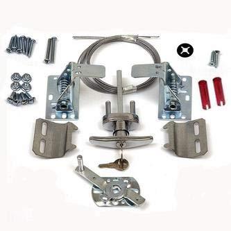 Garage-Door-Lock-Kit-w-Spring-Latch-Keyed-in-Handle-Universal-All-Doors