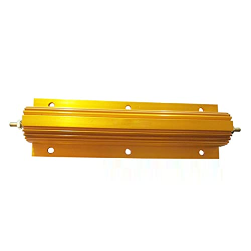 Aluminum Case Resistor 200W 1R Wirewound Resistor, for Power Supply, Inverter, Elevator, Stage Audio, Yellow, 1pcs